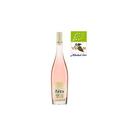 Zera Cabernet wino różowe półwytrawne bezalkoholowe bio wegańskie