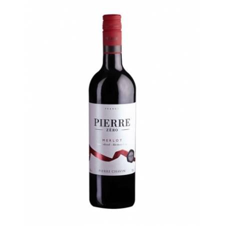 Pierre Zero Merlot czerwone wino półwytrawne bezalkoholowe