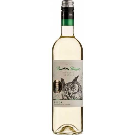 Cuatro Rayas Organic Verdejo 2020 Rueda DO białe wino wytrawne bio wegańskie