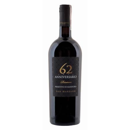 San Marzano Primitivo di Manduria 62 Anniversario Riserva 2017 wino czerwone wytrawne D.O.P.