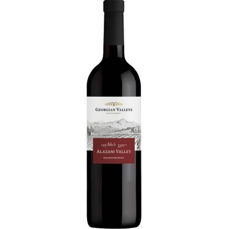 Georgian Valleys Alzani Valley wino czerwone półsłodkie 2019