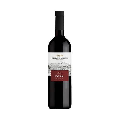 Georgian Valleys Sachino wino czerwone półwytrawne 2019